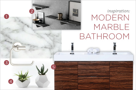 Design Inspiration: Modern Marble Bathroom