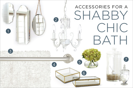 Accessories for a Shabby Chic Bathroom