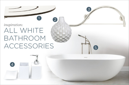 Inspiration all white bathroom accessories seachrome for All white bathroom accessories
