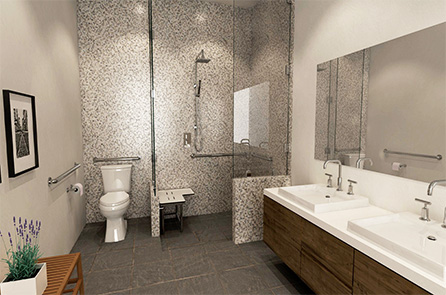 Designing ADACompliant Bathrooms For Healthy Aging Month - Ada compliant bathroom tile